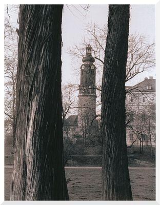 Turm des Stadtschlosses in Weimar