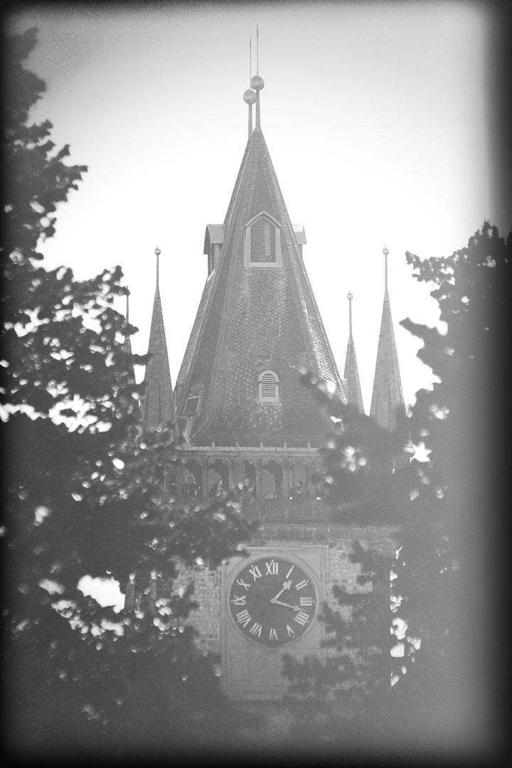 Turm mit Daguerreotype