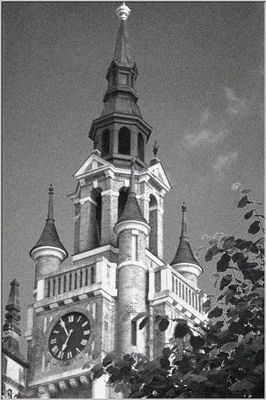 Turm mit Uhr
