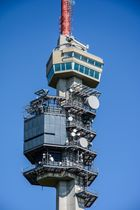 Turmkorb und Technik des Fernsehturms St. Chrischona