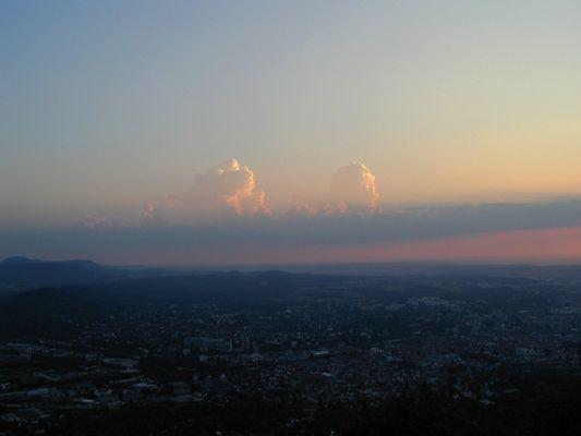 Turmwolken am Abend (Von der Achalm)