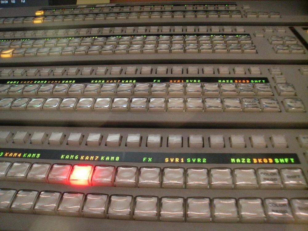 TV mixer in Studio in Vienna