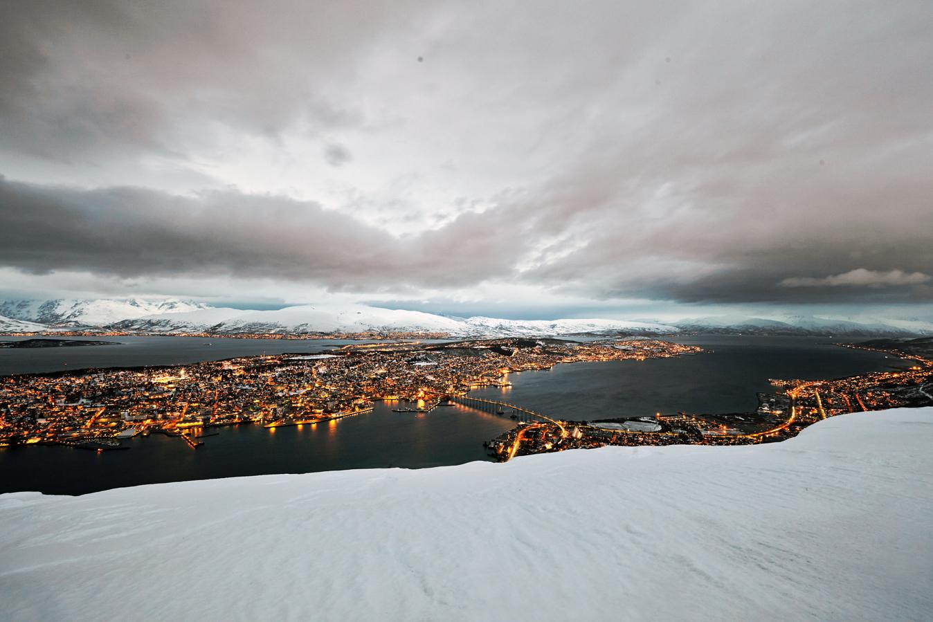 Twilight over Tromsøysund