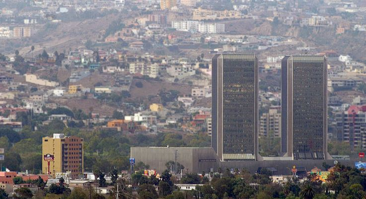 Twin towers view Tijuana Mexico