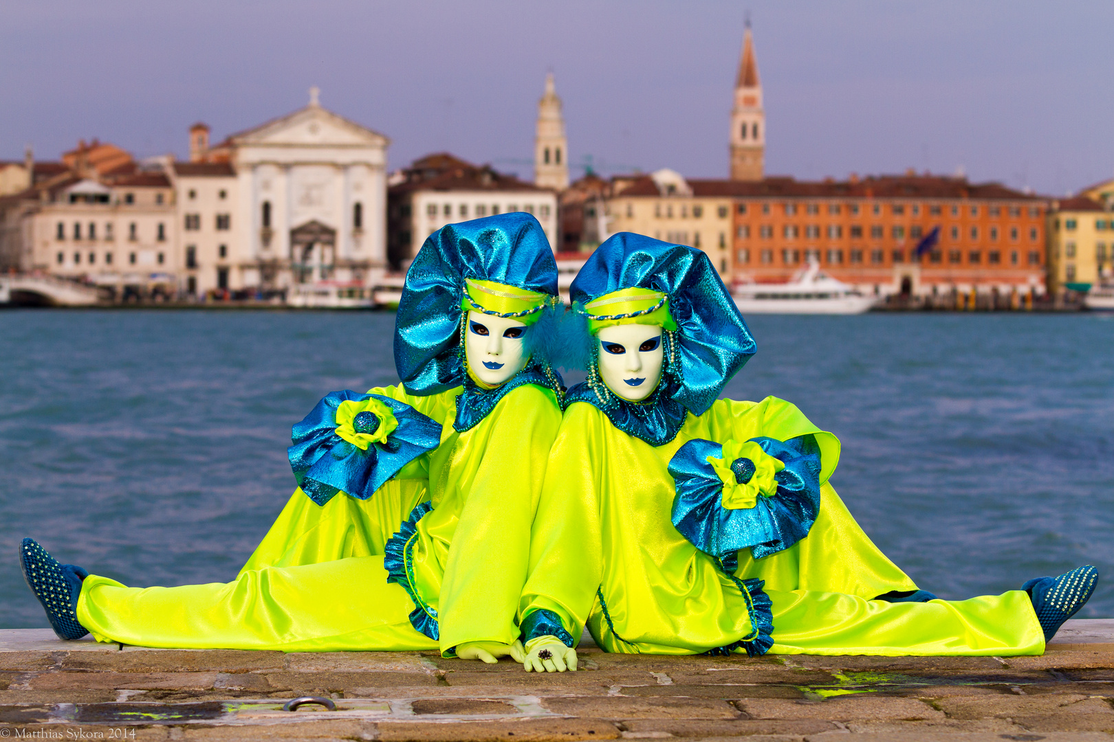 twins in Venice