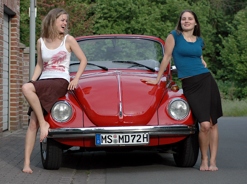 two girls - one car