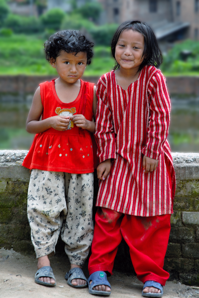 Two lovely kids in Bungmati