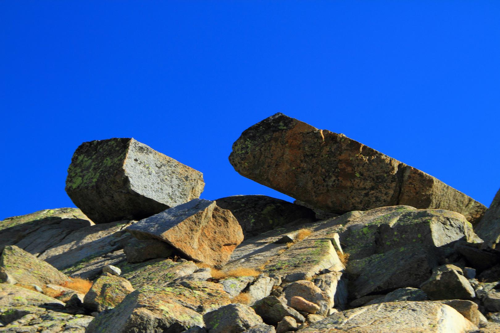 two stones.....