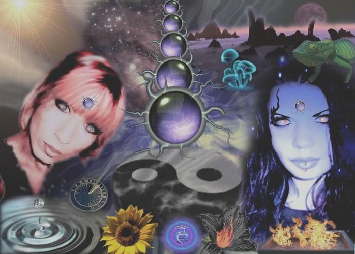 two women like Yin and Yang