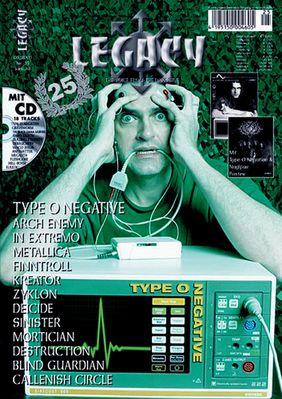Type O Negative / Coverfoto Legacy-Magazin