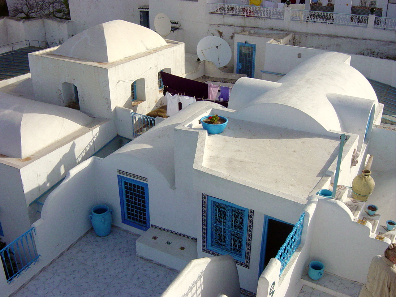 Typische Hausdächer in Ibn Bou Said