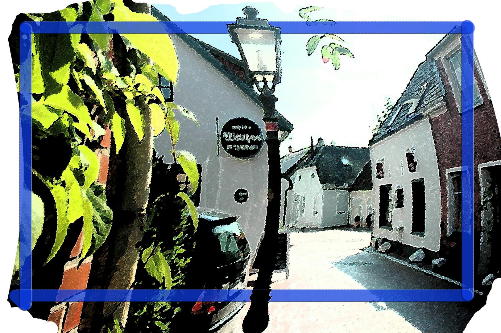 Typische ostfriesische Dorfstraße