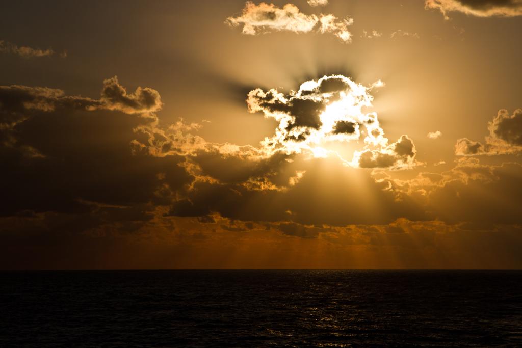typischer Sonnenuntergang Karibik
