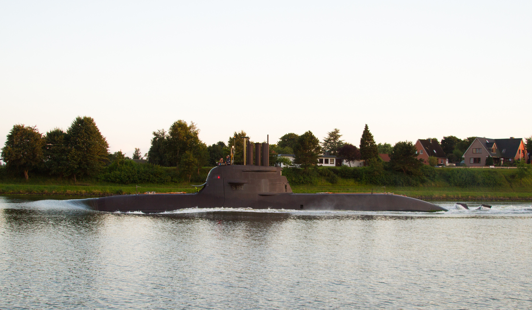 U 32 am 18.08.2013 im Nord Ostseekanal