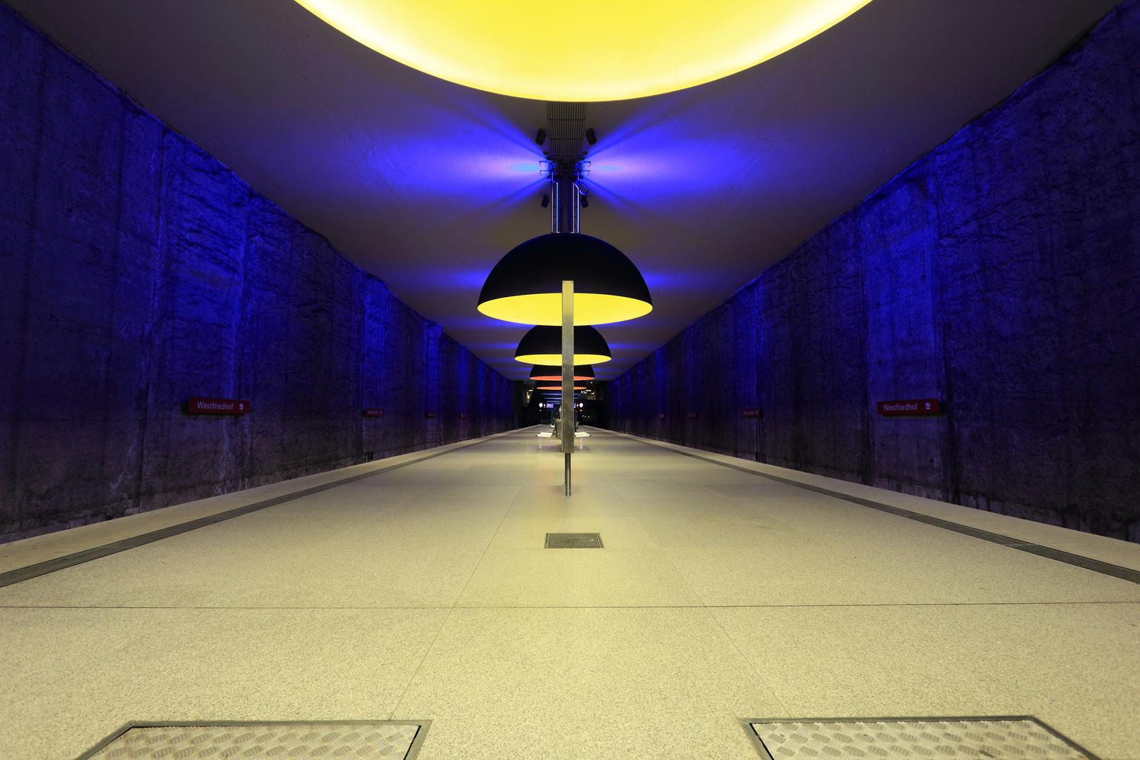 U-Bahn Haltestelle Westfriedhof, München