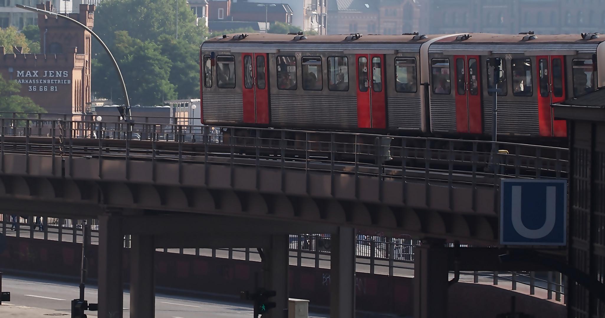 U-Bahn Richtung Stadt