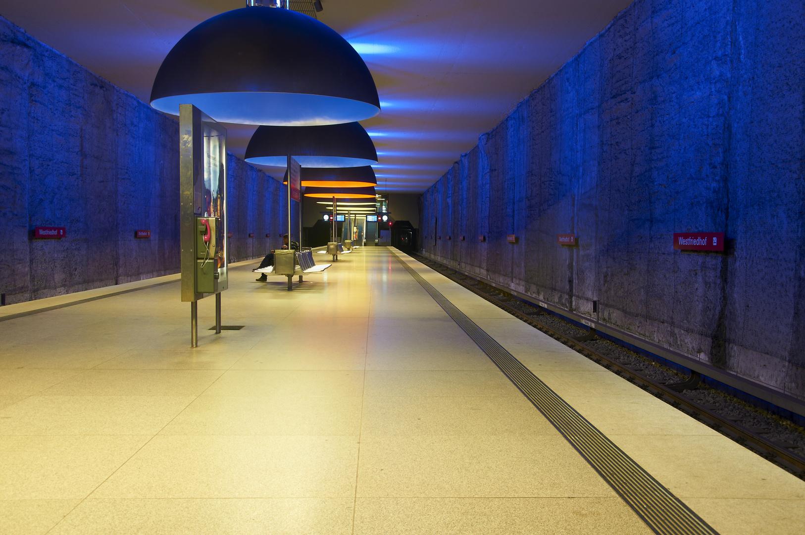 U-Bahn Station Westfriedhof München II