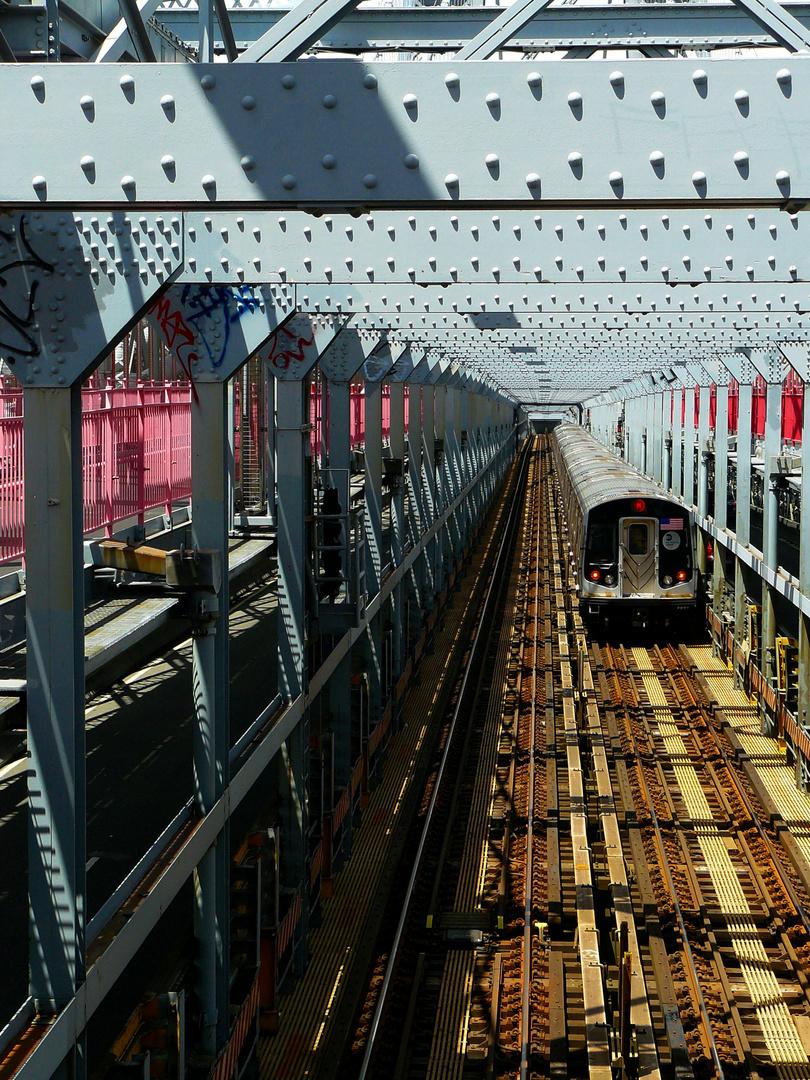 U-Bahn über die Williamsburg Bridge