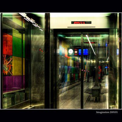U-Bahn und Lift in München