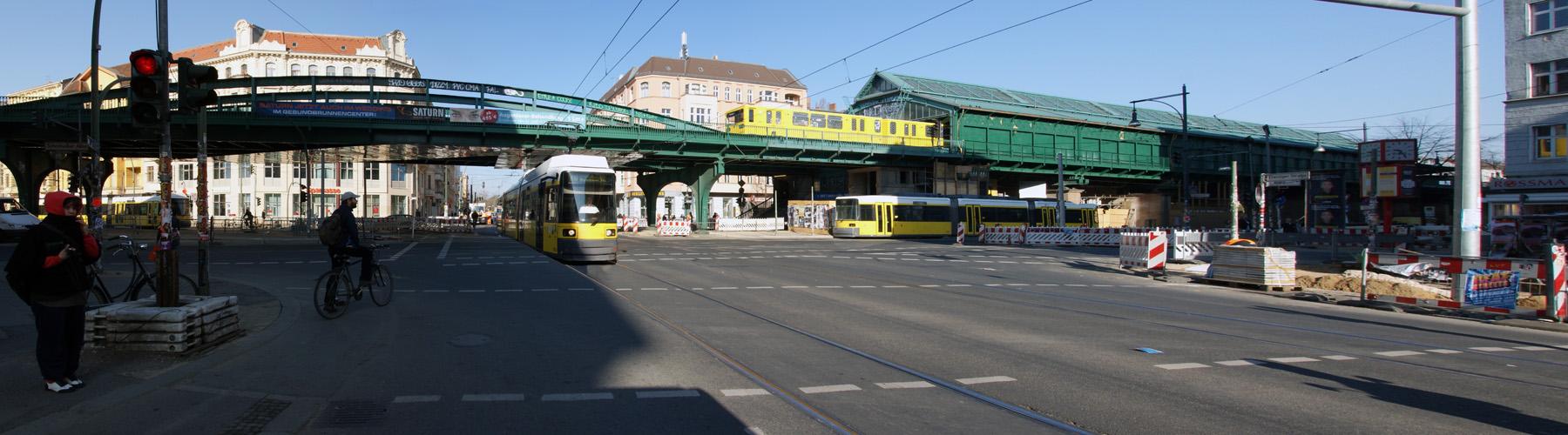 U-Bahnhof Eberswalder Strasse in der Morgensonne Reload