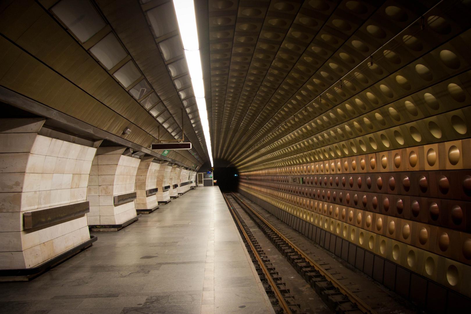 U Bahnstation Muzeum Prag
