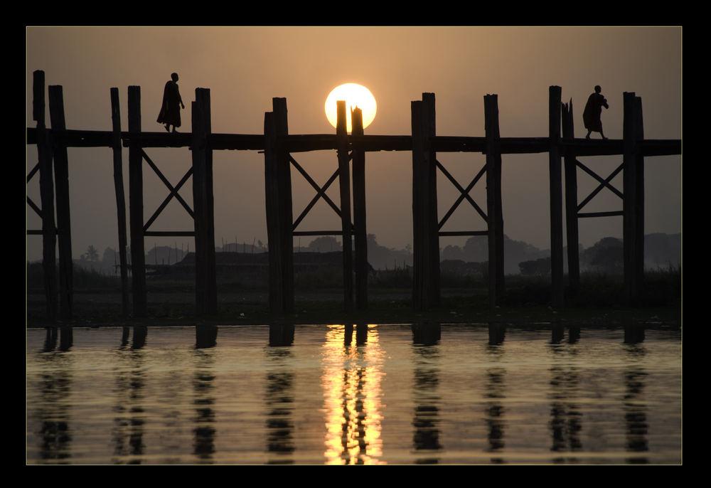 U Bein Bridge at dusk