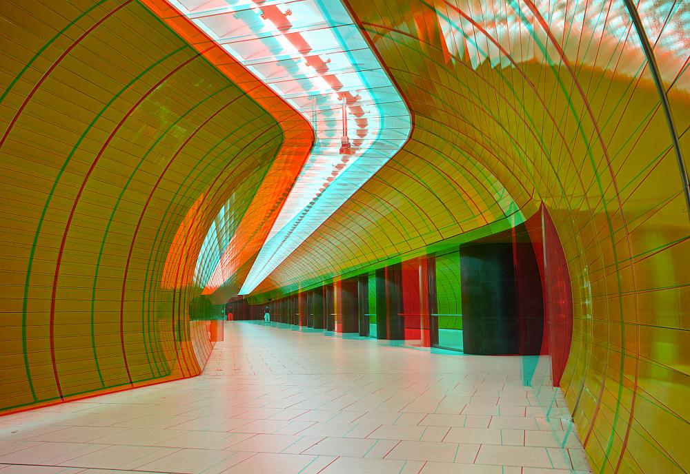 U3 Marienplatz (Ein S3D Bild)
