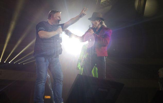 Udo Lindenberg mit Axel Gösebrecht, äh Prahl in Frankfurt am 21.06.2016