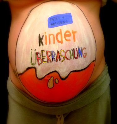Ü Ei Bodypainting Babybauch