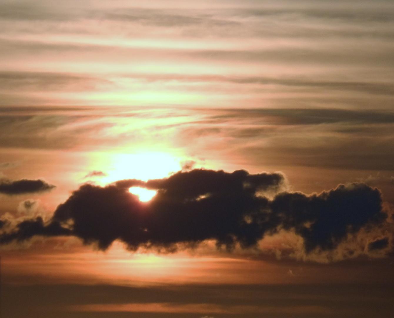 Über Böblingen / Sonnenuntergang