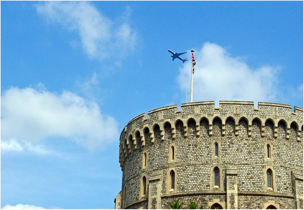Über dem Windsor Castle