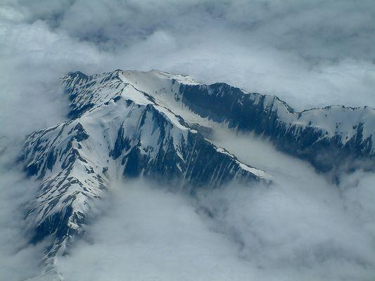 Über den Alpen von Neuseeland