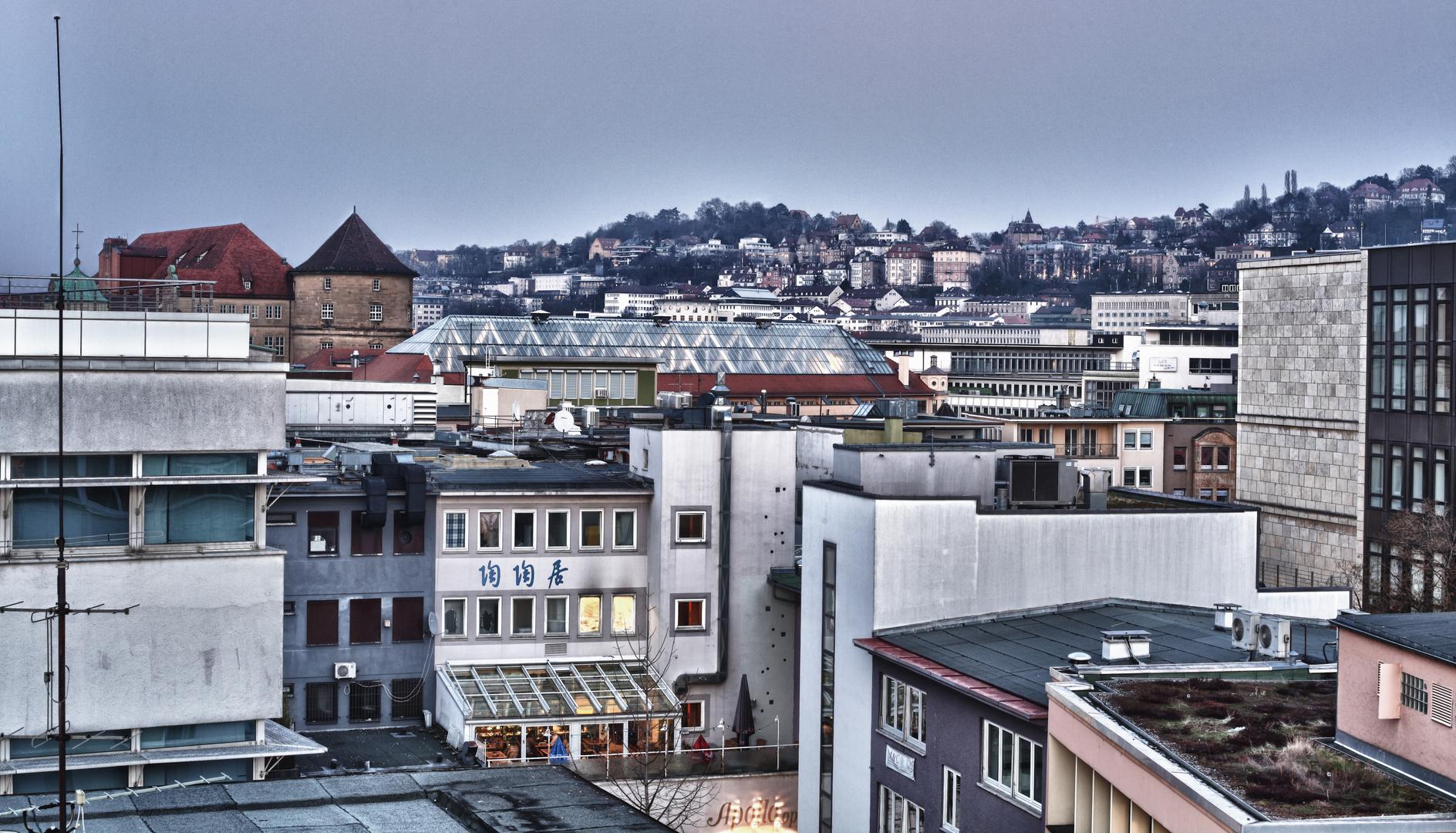 Über den Dächern ;) Stuttgart-Mitte HDR
