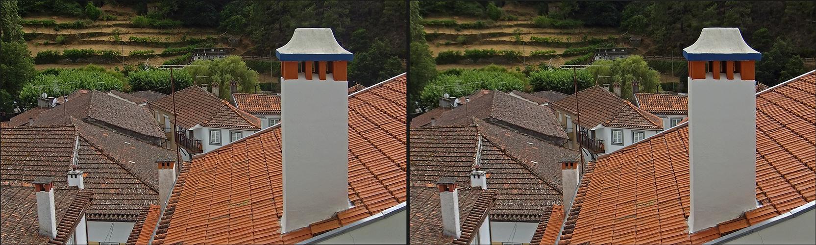 über den Dächern von Benfeita (3D)