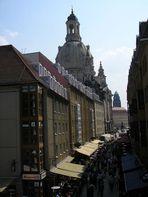 Über den Dächern von Dresden...
