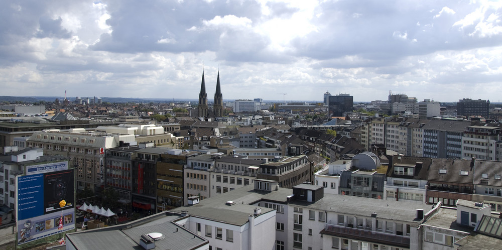 Über den Dächern von Düsseldorf
