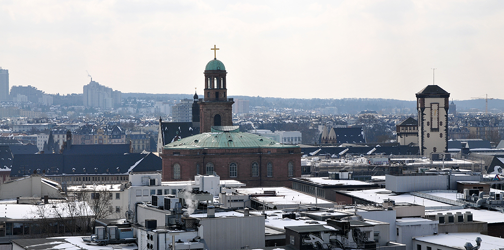 Über den Dächern von Frankfurt/main