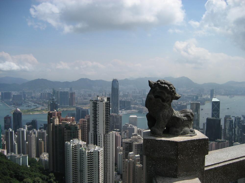 über den Dächern von Hongkong