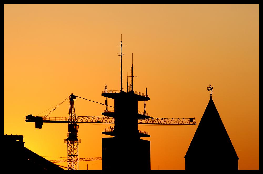 Über den Dächern von Köln