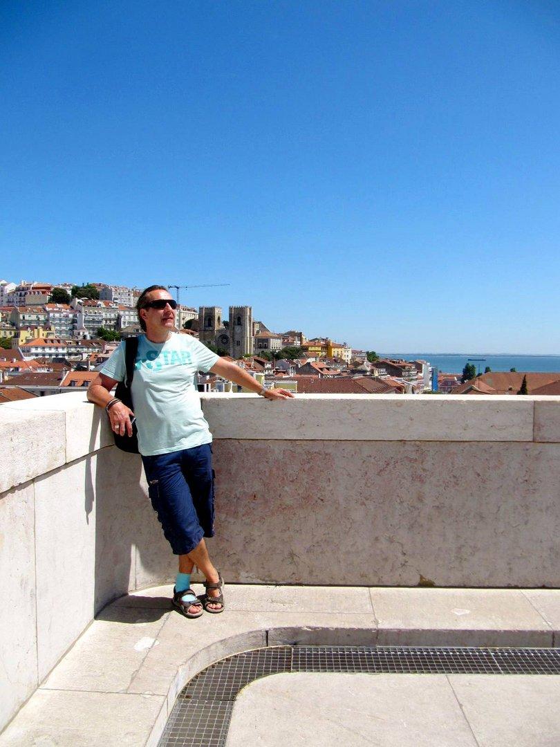 Über den Dächern von Lisboa ...