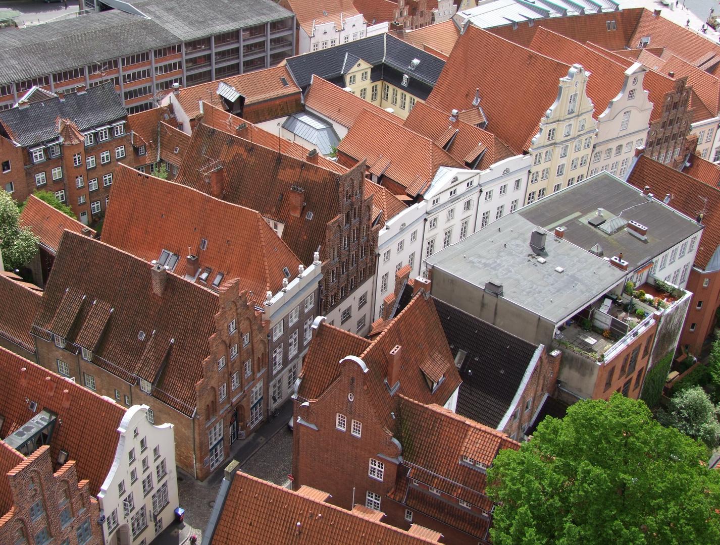Über den Dächern von Lübeck