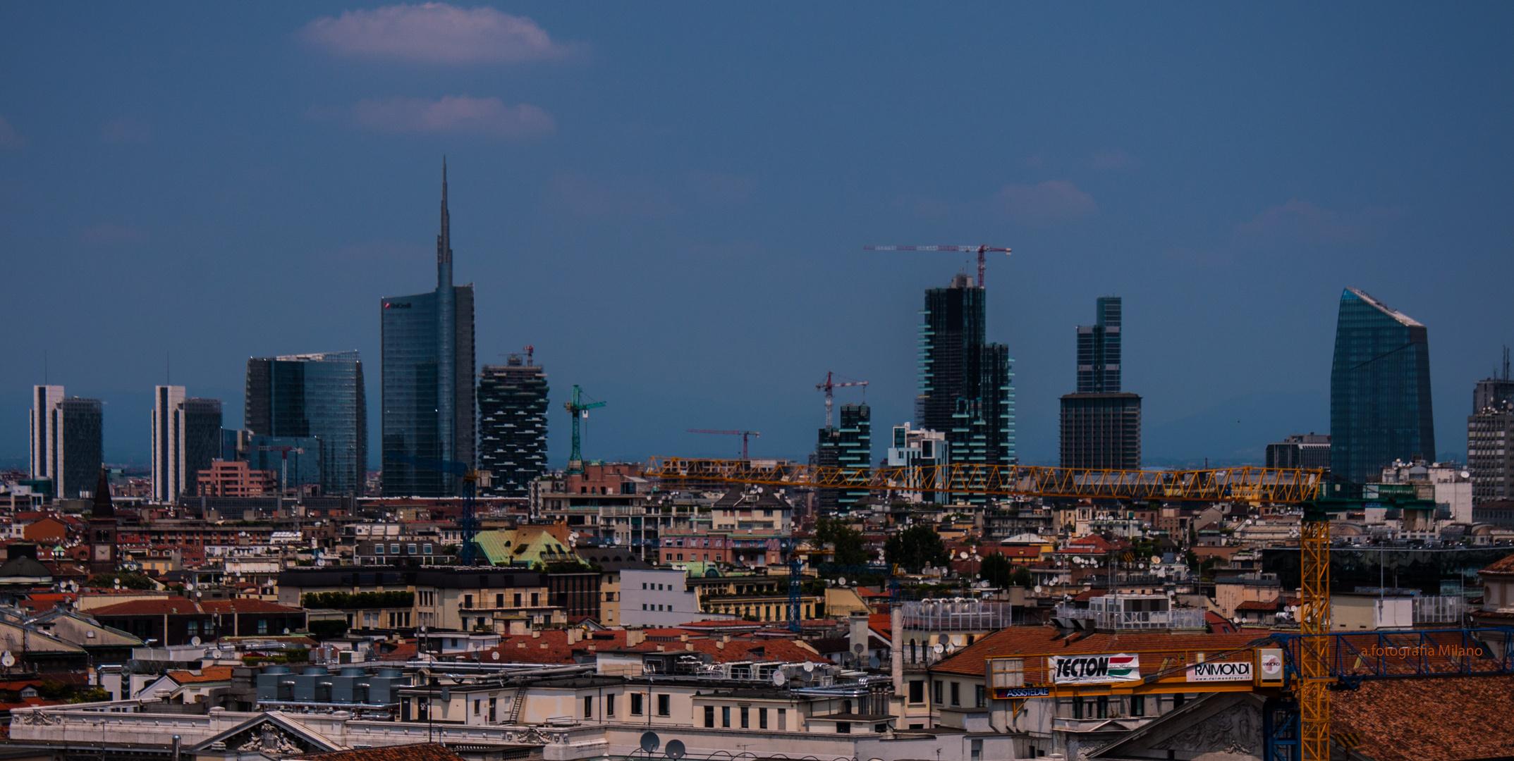 Über den Dächern von Mailand.....