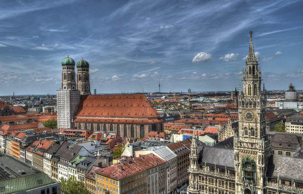über den Dächern von München...