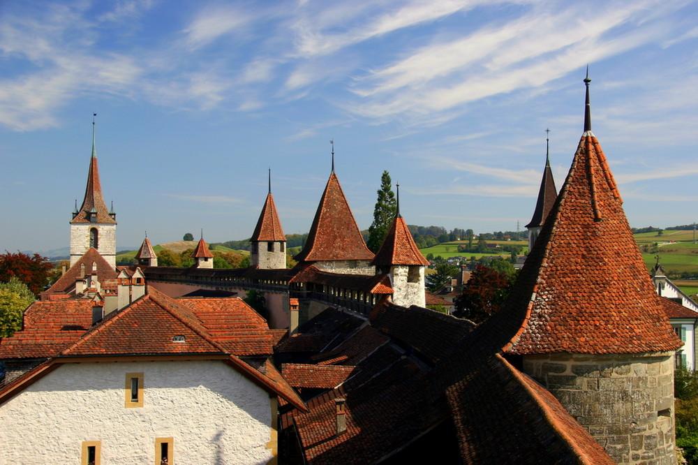 über den Dächern von Murten
