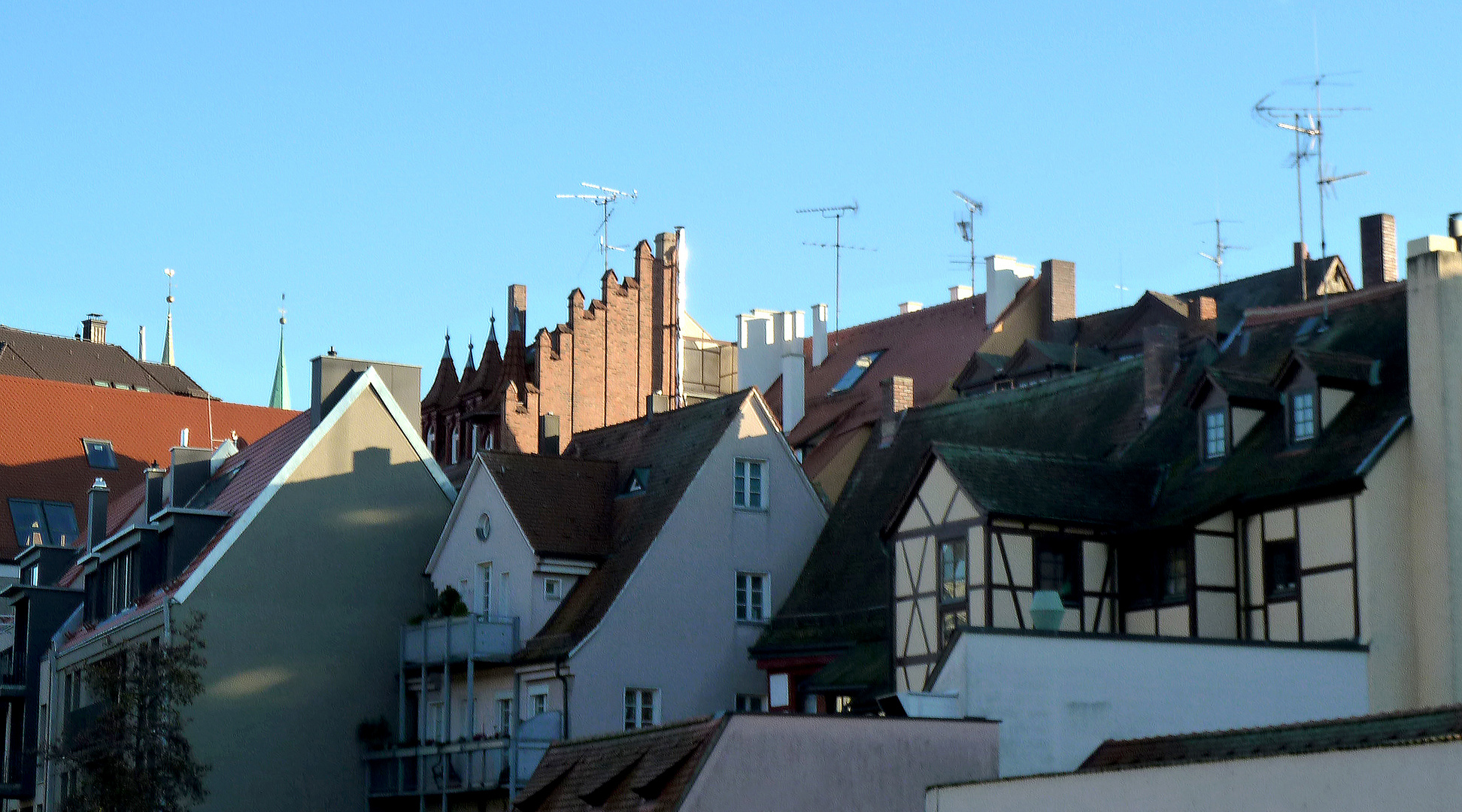 über den Dächern von Nürnbergs Innenschtadt