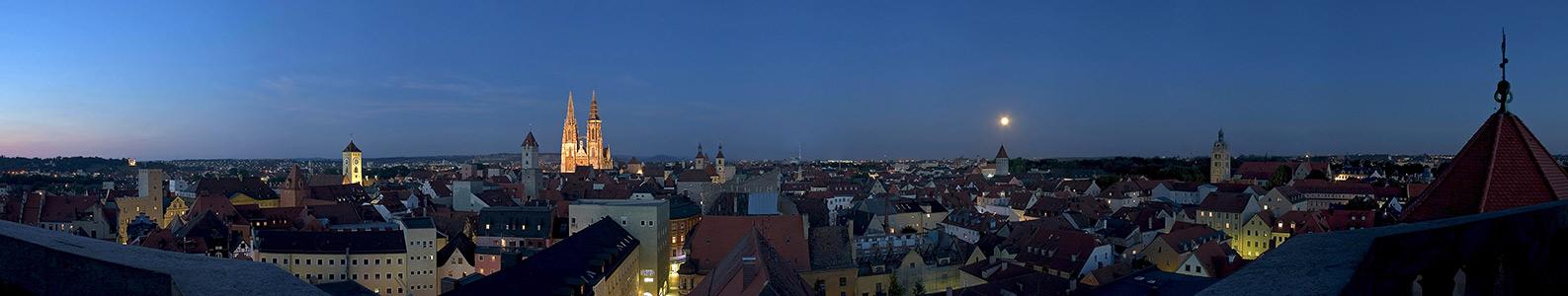 Über den Dächern von Regensburg