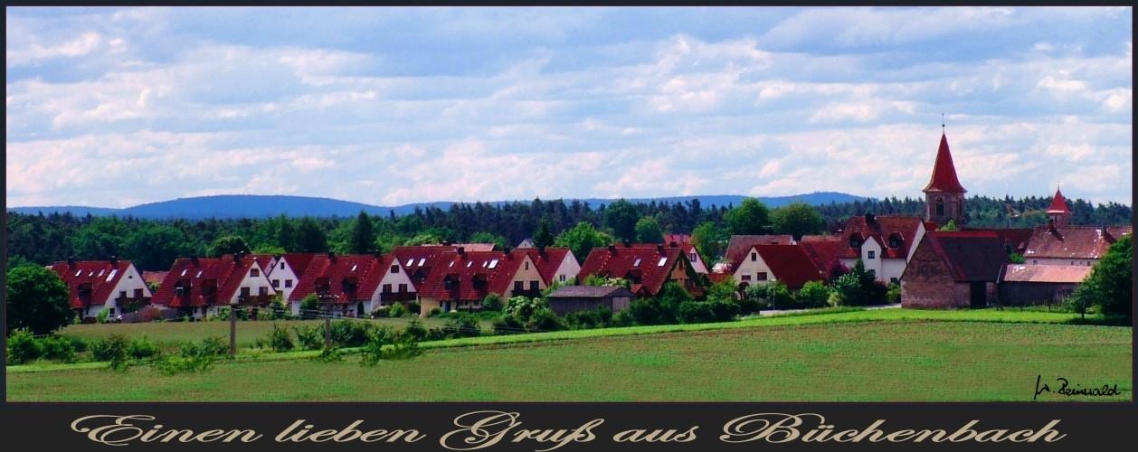Über den roten Dächern von Büchenbach