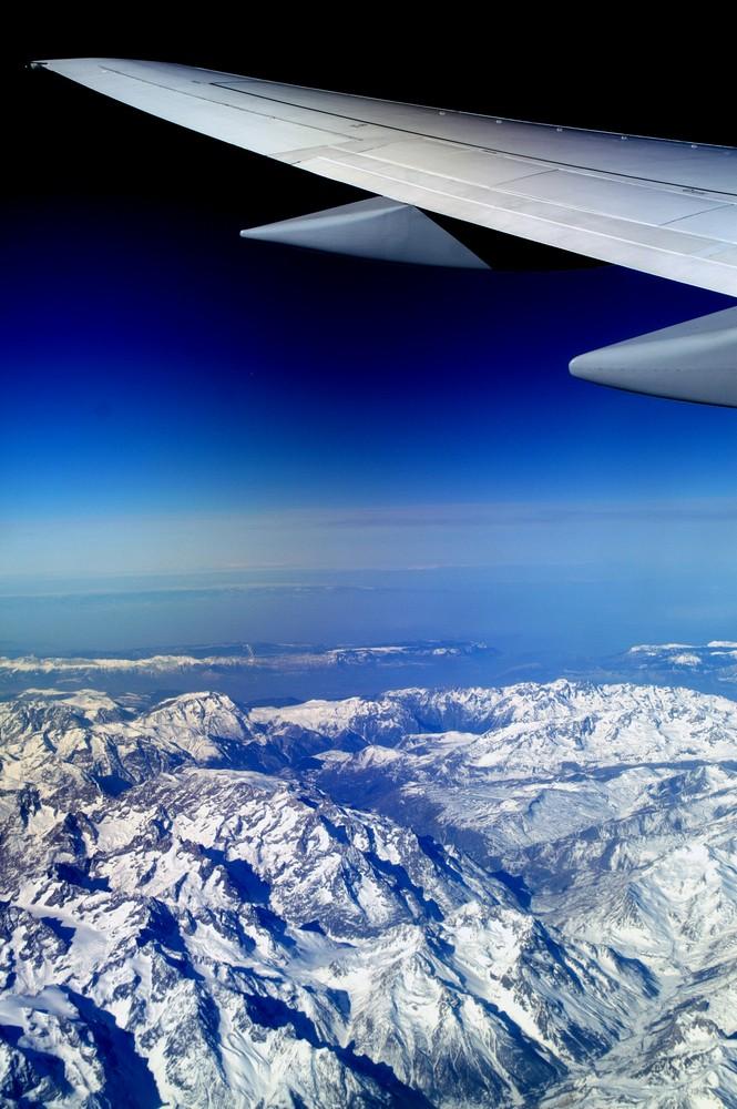 über den Winter geflogen