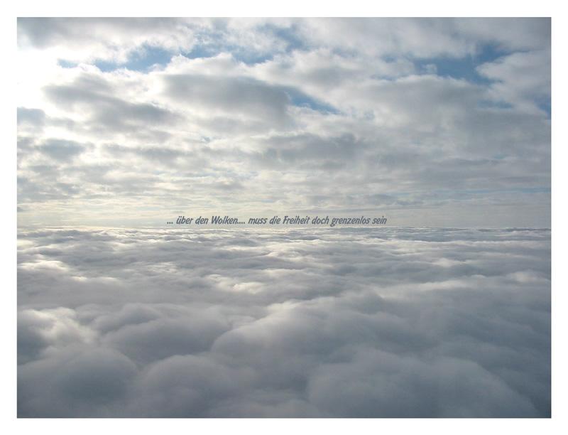 ... über den wolken