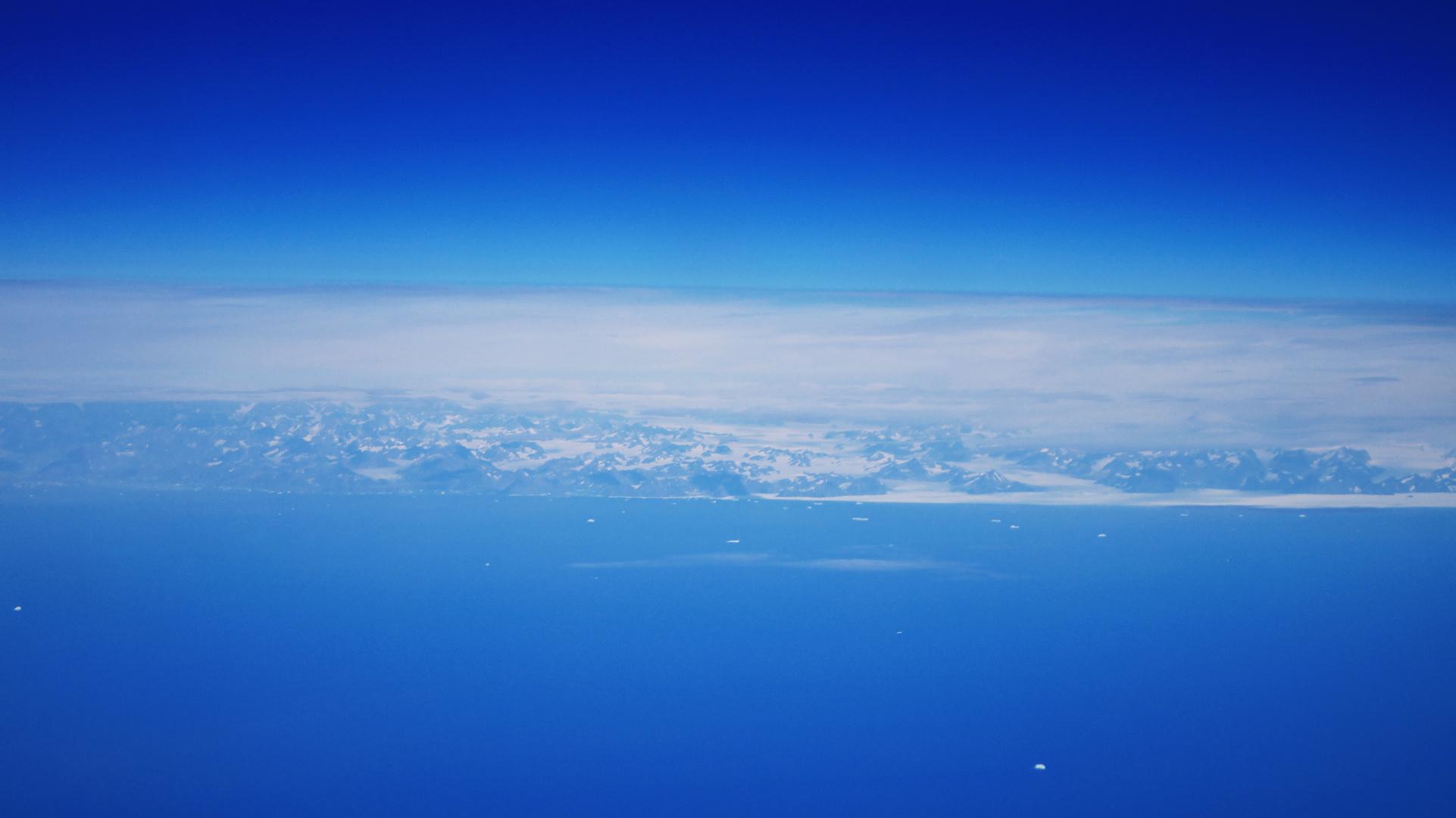 Über den Wolken Grönlandes...